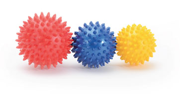 Therapy balls can help in foot exercises