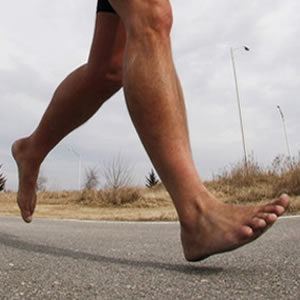 Anatomical flat feet in marathon runners